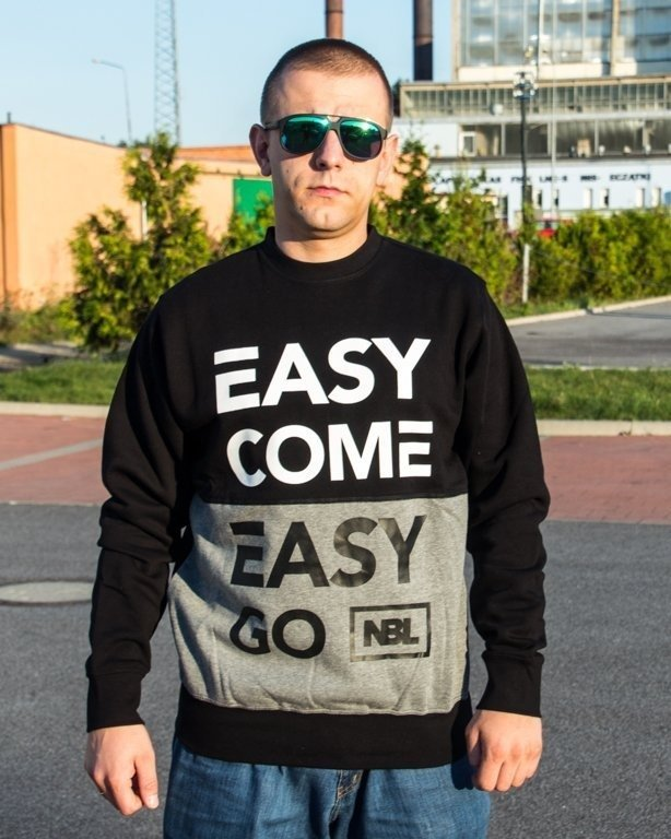 BLUZA CREWNECK EASY COME BLACK-GREY