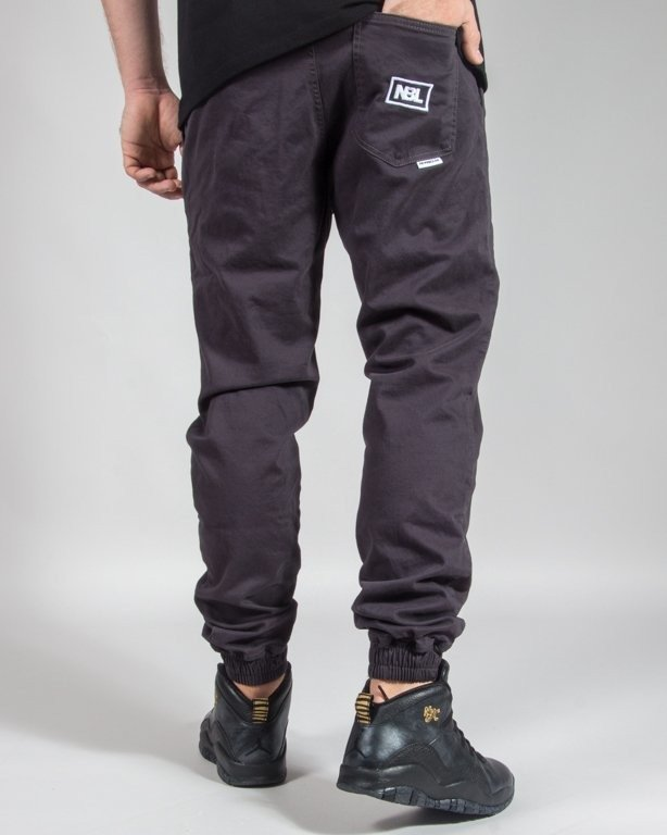 SPODNIE CHINO JOGGER ICON GRAPHITE