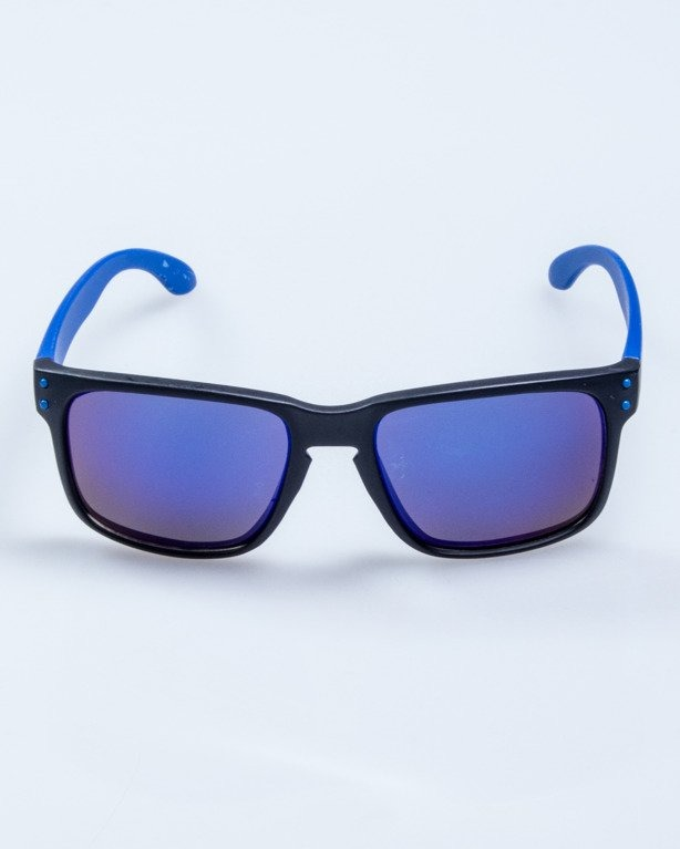 OKULARY FREESTYLE POINT BLACK-BLUE MAT BLUE MIRROR 589