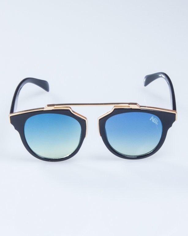 OKULARY LADY ROSH BLACK-GOLD BLUE-YELLOW 928