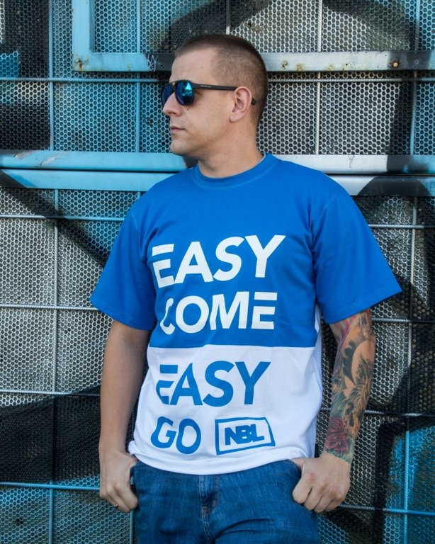 T-SHIRT EASY COME WHITE-BLUE