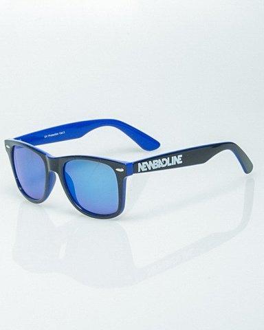 OKULARY CLASSIC INSIDE BLACK-BLUE FLASH BLUE MIRROR 1213