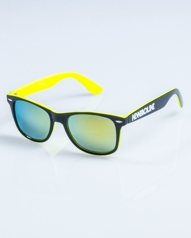 OKULARY CLASSIC INSIDE BLACK-NEON FLASH YELLOW MIRRO 747