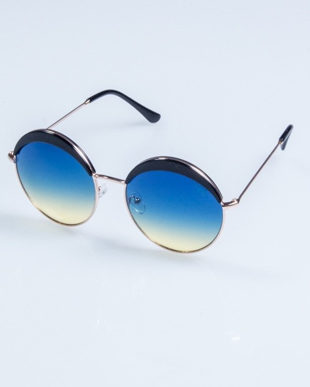OKULARY LADY COSMO GOLD-BLACK BLUE-YELLOW 702