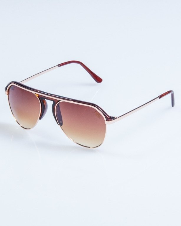 OKULARY LINES BRWON FLASH BROWN 674