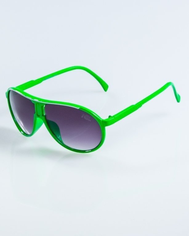 OKULARY ROUND GREEN BLACK 911