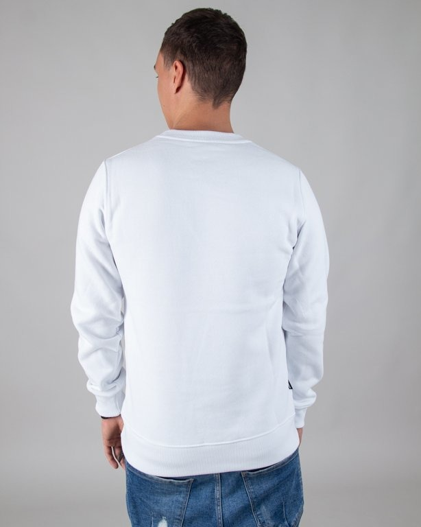 BLUZA BEZ KAPTURA ASS WHITE