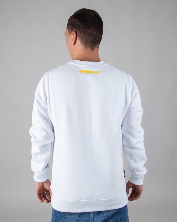 BLUZA BEZ KAPTURA CUT ICON WHITE