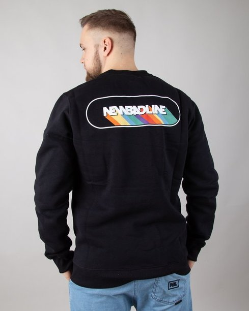 BLUZA BEZ KAPTURA RAINBOW BLACK