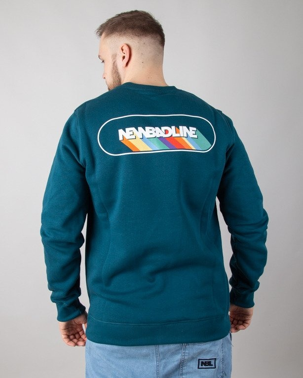 BLUZA BEZ KAPTURA RAINBOW EMERALD