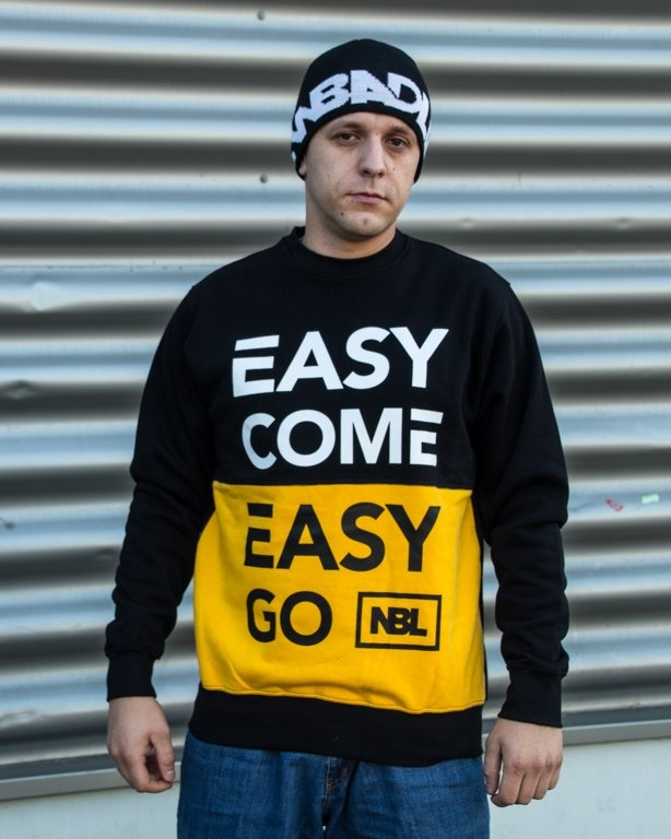 BLUZA CREWNECK EASY COME BLACK-YELLOW