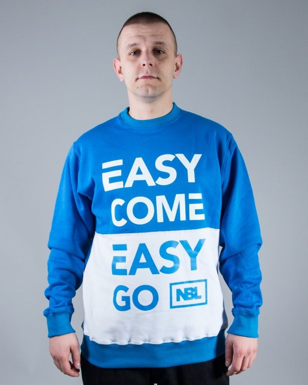 BLUZA CREWNECK EASY COME BLUE-WHITE