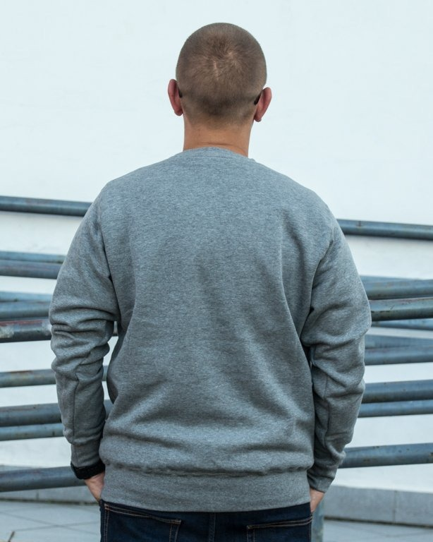 BLUZA CREWNECK POCKET GREY