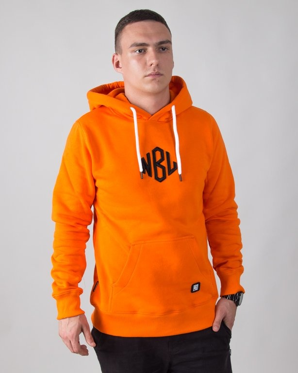 BLUZA Z KAPTUREM ROMB ORANGE