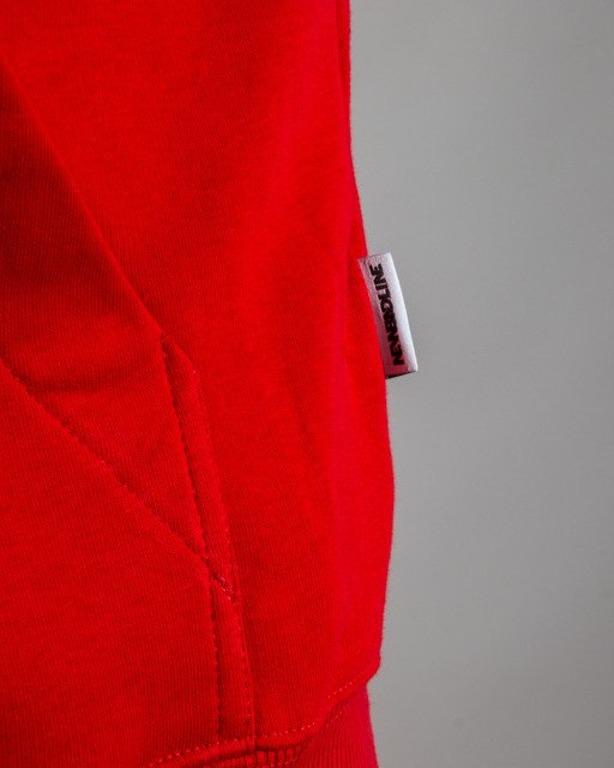 BLUZA Z KAPTUREM SWAG RED