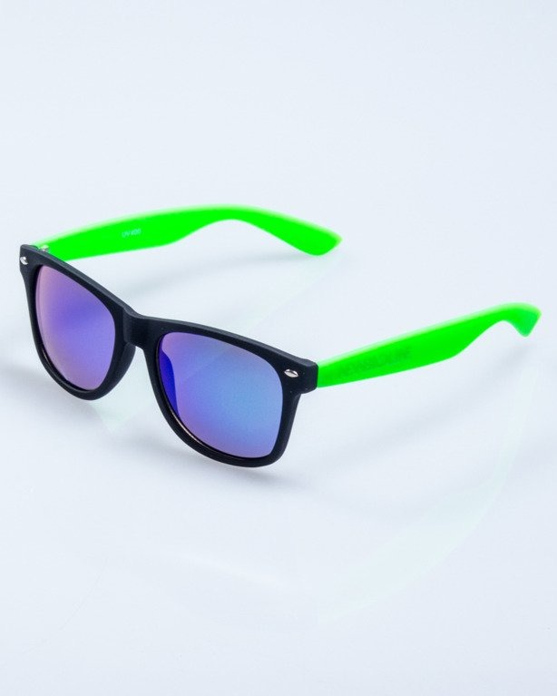 CLASSIC HALF BLACK-GREEN RUBBER GREEN MIRROR 555