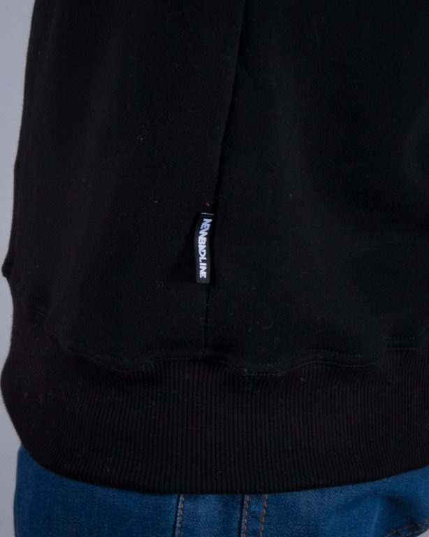 NEW BAD LINE BLUZA BEZ KAPTURA BASEBALL BLACK ON BLACK