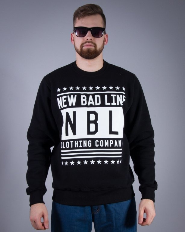 NEW BAD LINE BLUZA BEZ KAPTURA SWAG BLACK