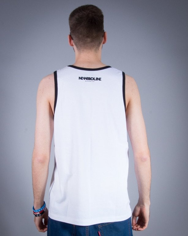 NEW BAD LINE TANK TOP ICON WHITE