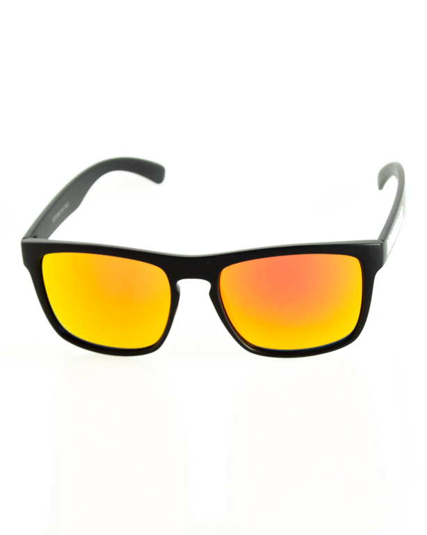 OKULARY AGENT BLACK MAT RED MIRROR 204
