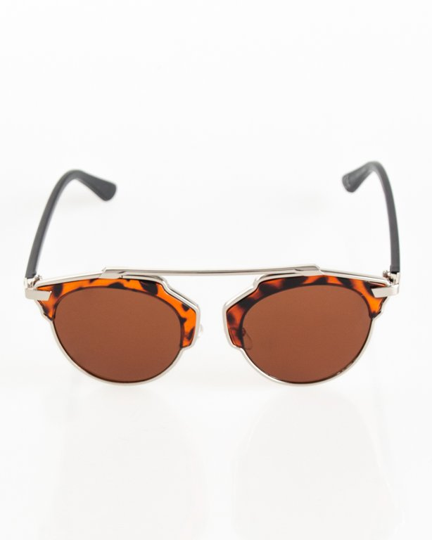 OKULARY BEBE SILVER-PANTERA FLASH BROWN 081