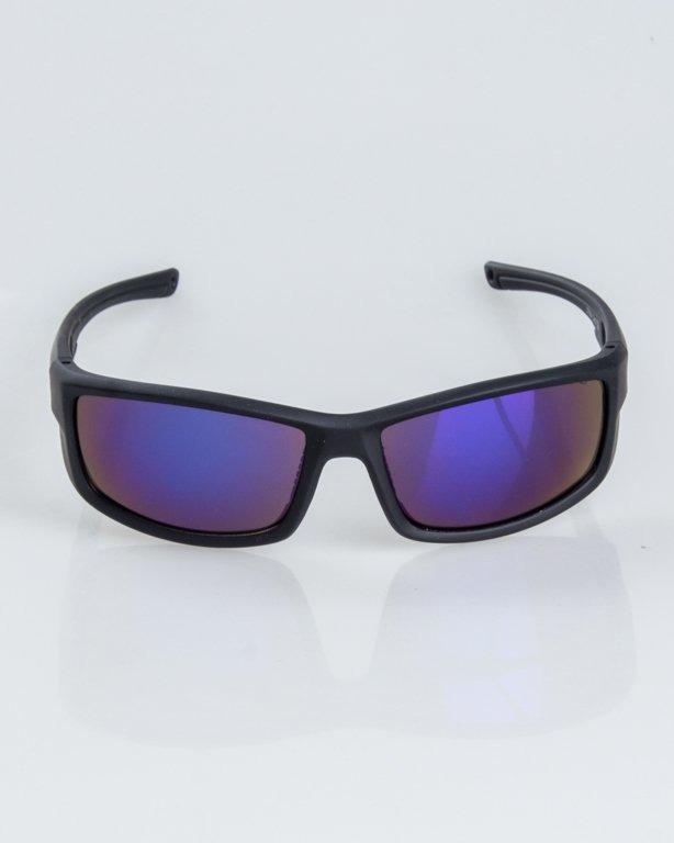 OKULARY BLADE BLACK RUBBER BLUE MIRROR 1236