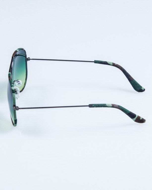 OKULARY CAMO METAL GREY-GREEN GREEN 692