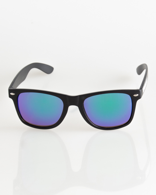 OKULARY CLASSIC BLACK MAT GREEN MIRROR 035