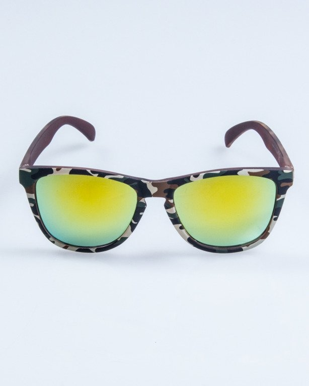 OKULARY CLASSIC CAMO CLASSIC RUBBER YELLOW MIRROR 678