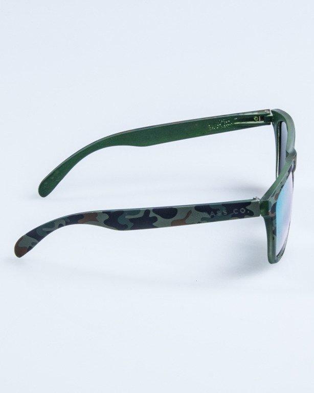OKULARY CLASSIC CAMO GREEN RUBBER YELLOW MIRROR 681