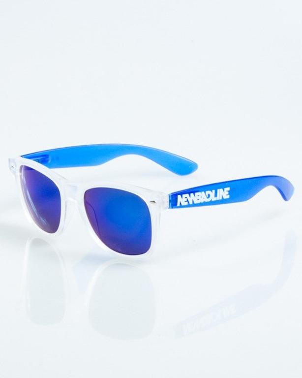 OKULARY CLASSIC CLEAR BLUE MAT BLUE MIRROR 1050
