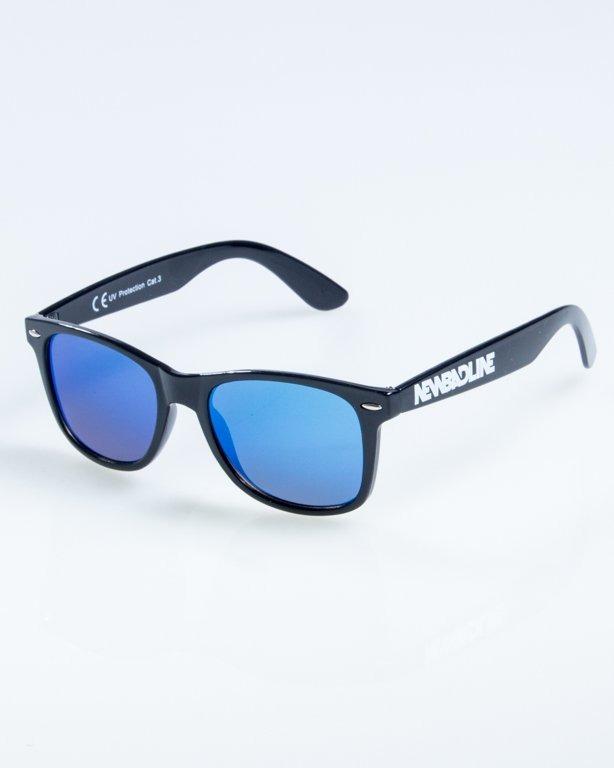 OKULARY CLASSIC FLAT BLACK FLASH BLUE MIRROR 876