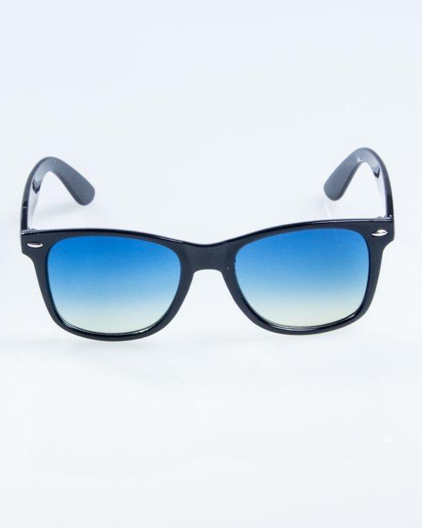 OKULARY CLASSIC FLAT BLACK FLASH BLUE TONAL 879