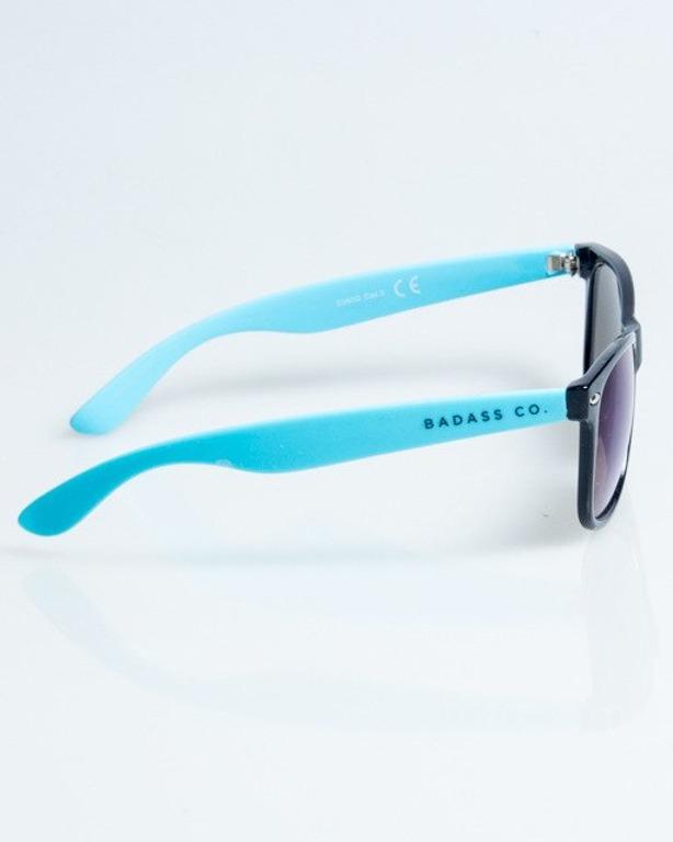 OKULARY CLASSIC HALF BLACK-BLUE FLASH BLUE MIRROR 1079