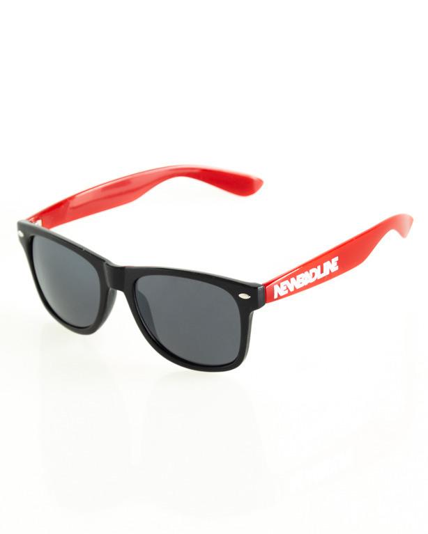 OKULARY CLASSIC HALF BLACK-RED FLASH BLACK 110