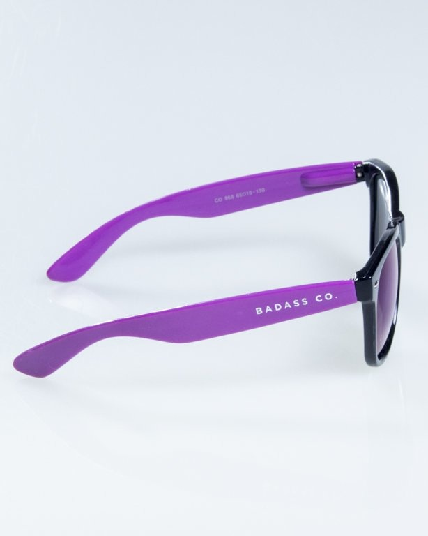OKULARY CLASSIC HALF  BLACK-VIOLET FLASH BLUE MIRROR 832
