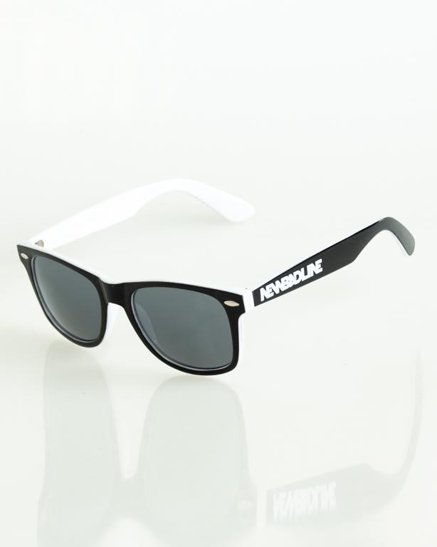 OKULARY CLASSIC INSIDE BLACK-WHITE FLASH BLACK 169