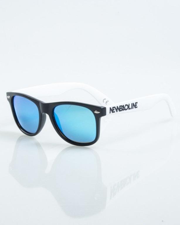 OKULARY CLASSIC HALF BLACK-WHITE MAT BLUE MIRROR POLARIZED 1025