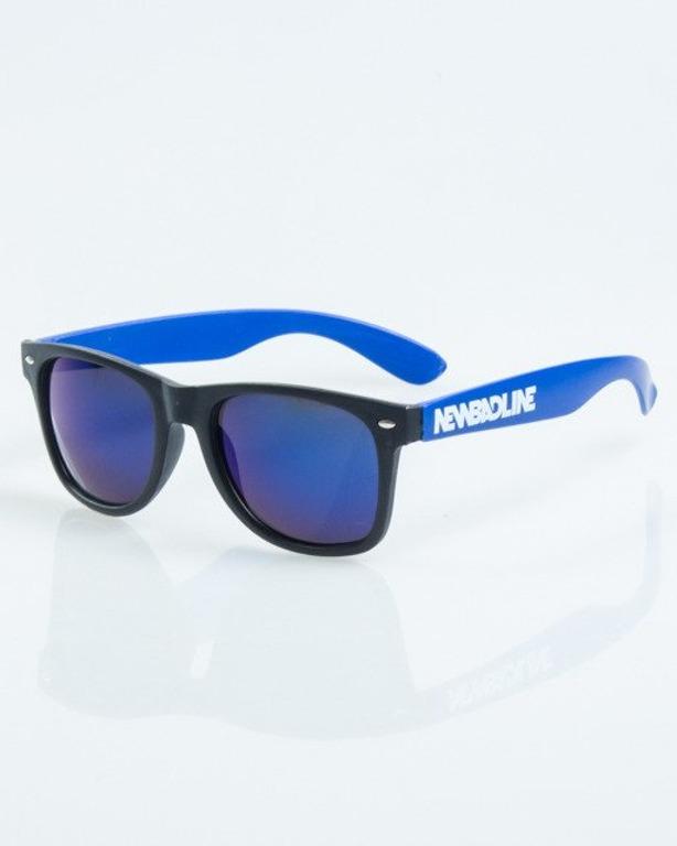 OKULARY CLASSIC HALF BLAK-BLUE MAT BLUE MIRROR 1028