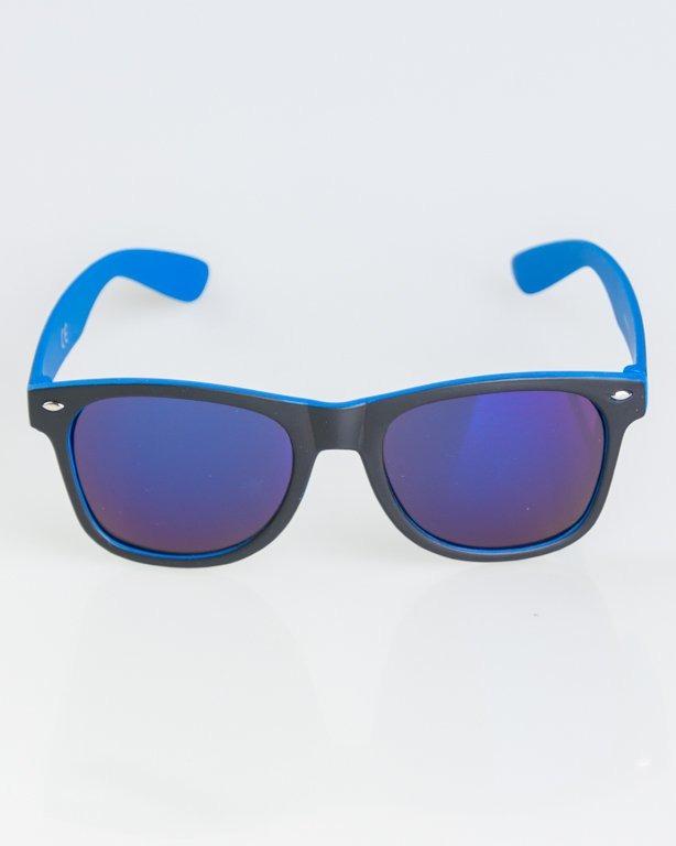 OKULARY CLASSIC INSIDE BLACK-BLUE MAT BLUE MIRROR 1265