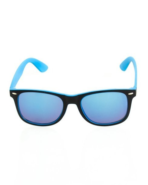 OKULARY CLASSIC INSIDE BLACK-BLUE MAT BLUE MIRROR 141