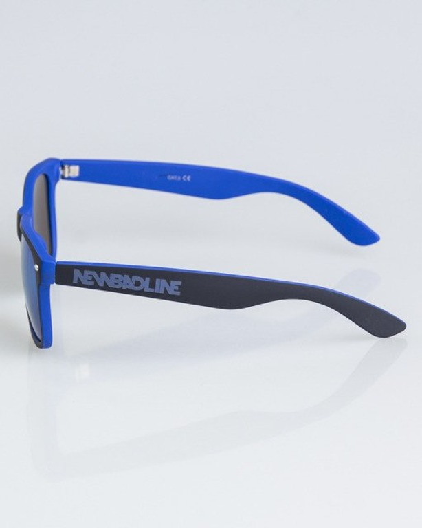 OKULARY CLASSIC INSIDE BLACK-BLUE RUBBER BLUE MIRROR 1324