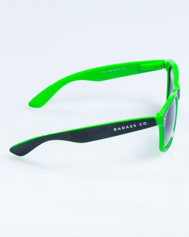 OKULARY CLASSIC INSIDE BLACK-GREEN FLASH BLACK HALF 848
