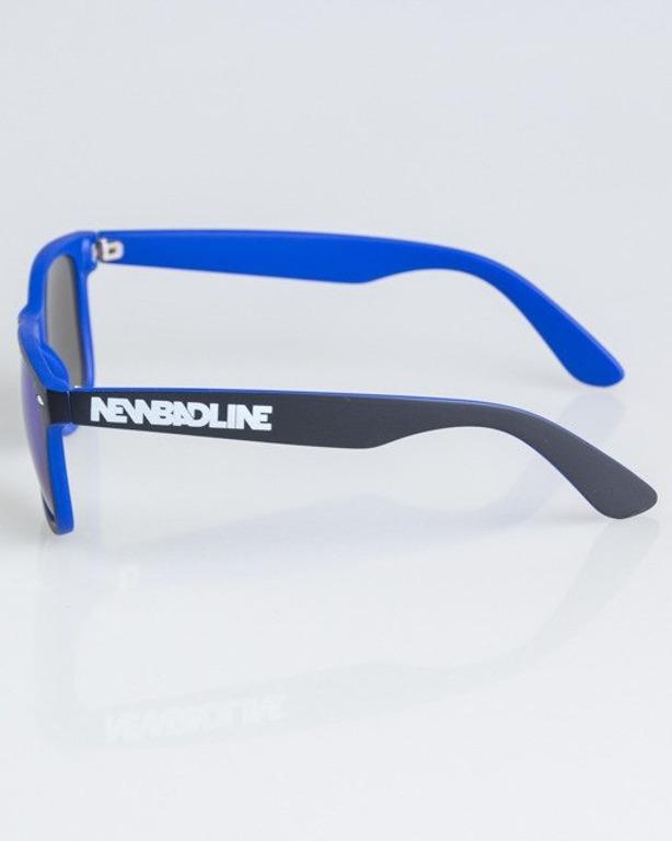 OKULARY CLASSIC INSIDE BLACK-NAVY MAT BLUE MIRROR 1338