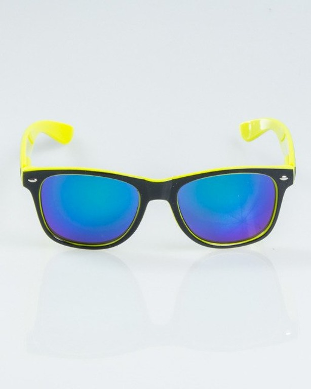OKULARY CLASSIC INSIDE BLACK-NEON FLASH GREEN MIRROR 1172