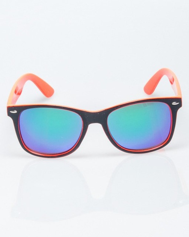OKULARY CLASSIC INSIDE BLACK-PINK FLASH GREEN MIRROR 1199