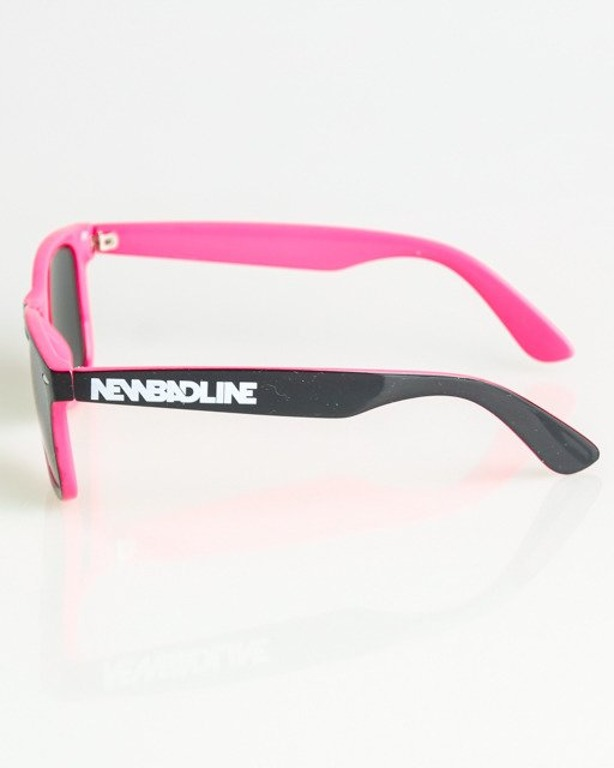 OKULARY CLASSIC INSIDE BLACK-PINK FLASH YELLOW-PINK MIRROR 1384