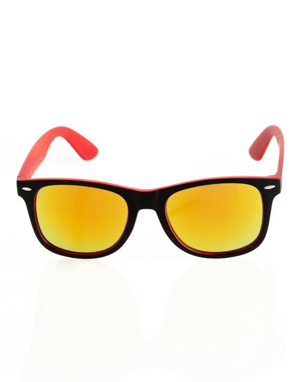 OKULARY CLASSIC INSIDE BLACK-RED MAT RED MIRROR 142