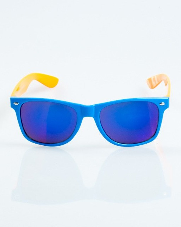 OKULARY CLASSIC INSIDE BLUE-ORANGE FLASH BLUE MIRROR 1044
