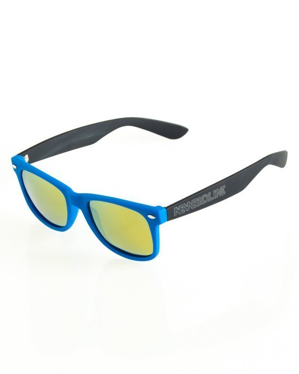 OKULARY CLASSIC POLARIZED BLACK-BLUE RUBBER YELLOW 126